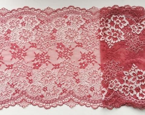 Эластичное кружево, ОПТ, пыльно-розовый, 22см (Артикул: EK-2110), м