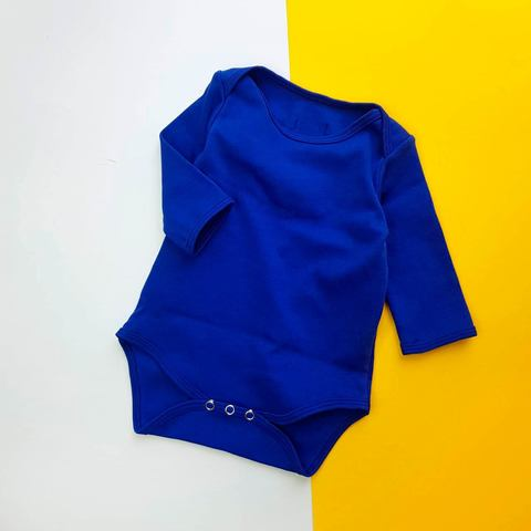 Бодик синий с длинным рукавом
