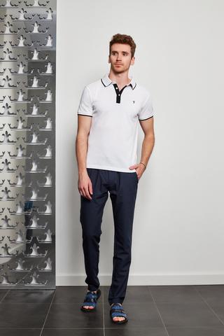 Trussardi Jeans Поло с выработкой и контрастной отделкой