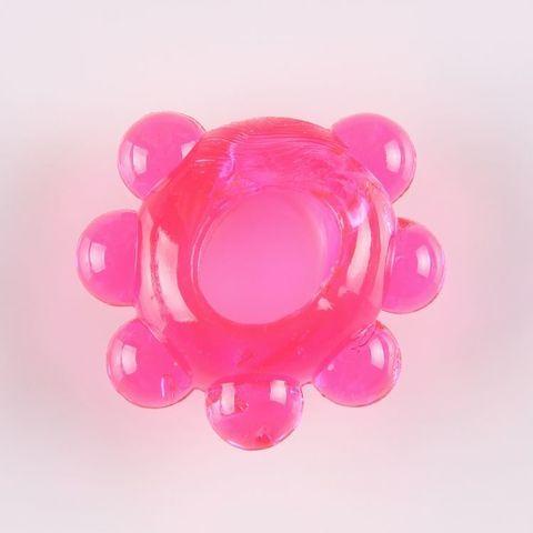 Розовое эрекционное колечко