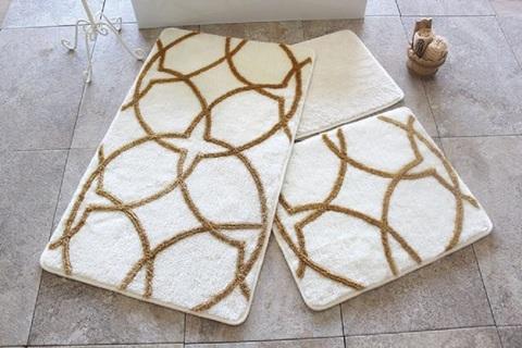 Комплект ковриков для ванной и туалета BONNE, золотистый