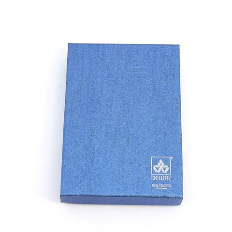 Маникюрный набор Dewal, 5 предметов, цвет бежевый, кожаный футляр