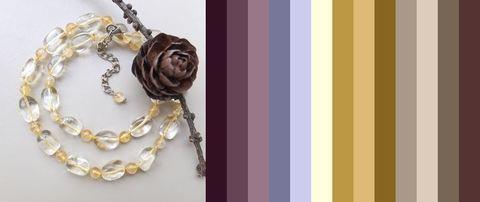 несколько вариантов цветов одежды под эти бусы