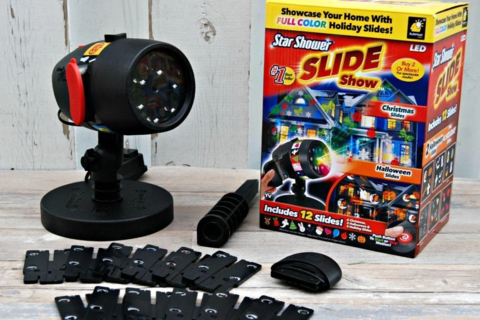 Новогодний лазерный проектор Star Shower Slide!