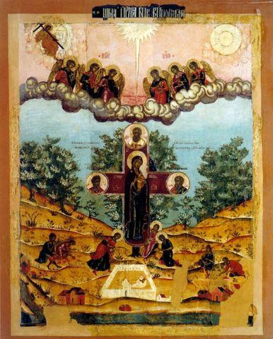 Икона Купятицкая Божией Матери на дереве на левкасе мастерская Иконный Дом