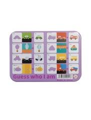 Развивающая игра-пазл SHAPES PUZZLE Транспорт Серия Угадай Кто Я Такой 24 детали в жестяной коробке