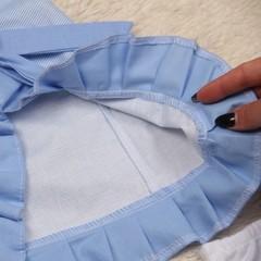 Летнее платье с трусиками Пироженко (голубое)