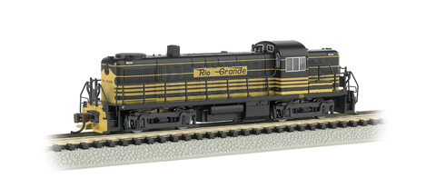 Bachmann 64252 Цифровой Тепловоз ALCO RS-3 D&RGW #5200 - Early (Yellow & Black) DCC, N