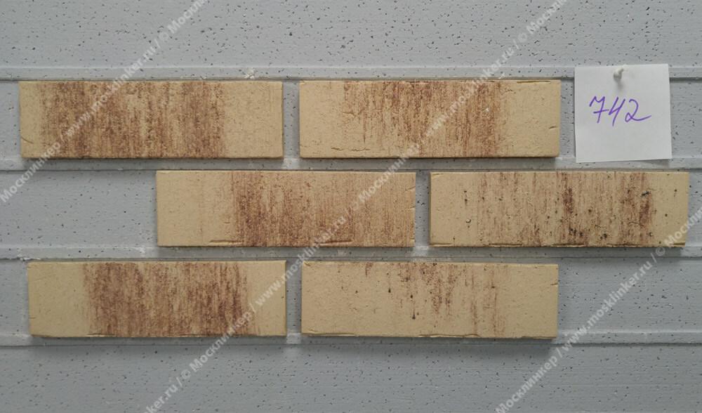 Feldhaus Klinker - R742NF14, Vascu Crema Petino, 240x14x71 - Клинкерная плитка для фасада и внутренней отделки