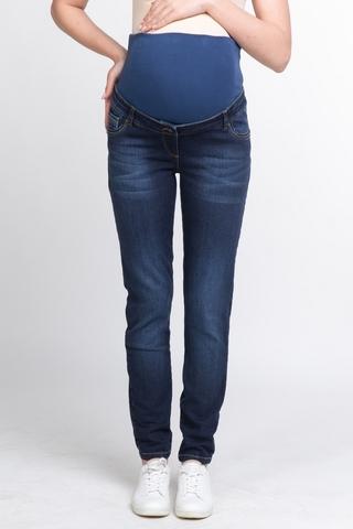 Моделирующие джинсы с эффектом push-up для беременных (SLIM) 10745 синий