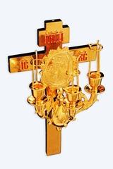 Трехсвечник на кресте