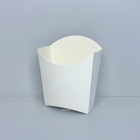 Бумажная упаковка для картошки фри 85х98 мм маленькая (25 шт.) белая