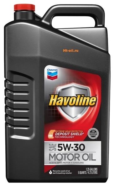 HAVOLINE 5W-30 моторное масло для бензиновых двигателей Chevron (5 литров)
