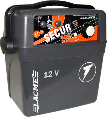 Генератор электропастуха SECUR 200  от аккумуляторной батареи, для КРС - 100 км - 2,5-2,0 Дж