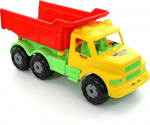 Буран №1, автомобиль-самосвал жёлто-красный