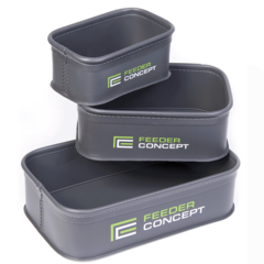 Набор емкостей для прикормки и насадки Feeder Concept EVA, 3 шт