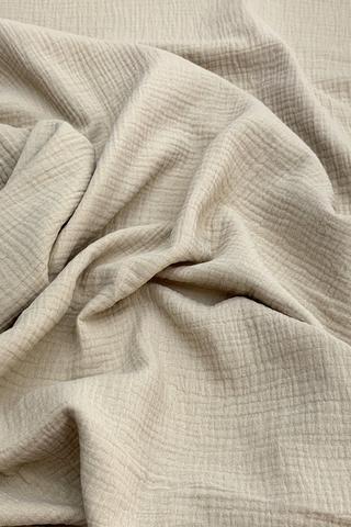 Ткань муслиновая, светлый тауп