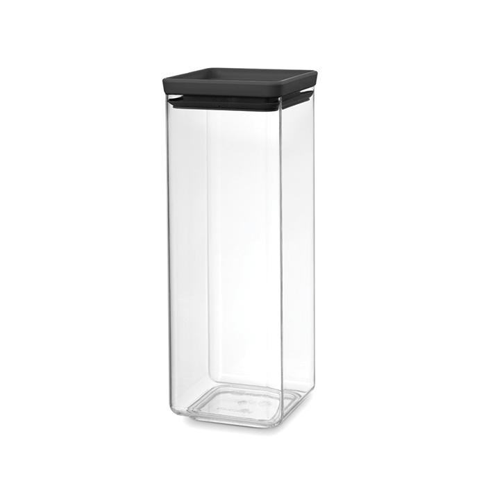 Прямоугольный контейнер (2,5 л), Темно-серый, арт. 122408 - фото 1