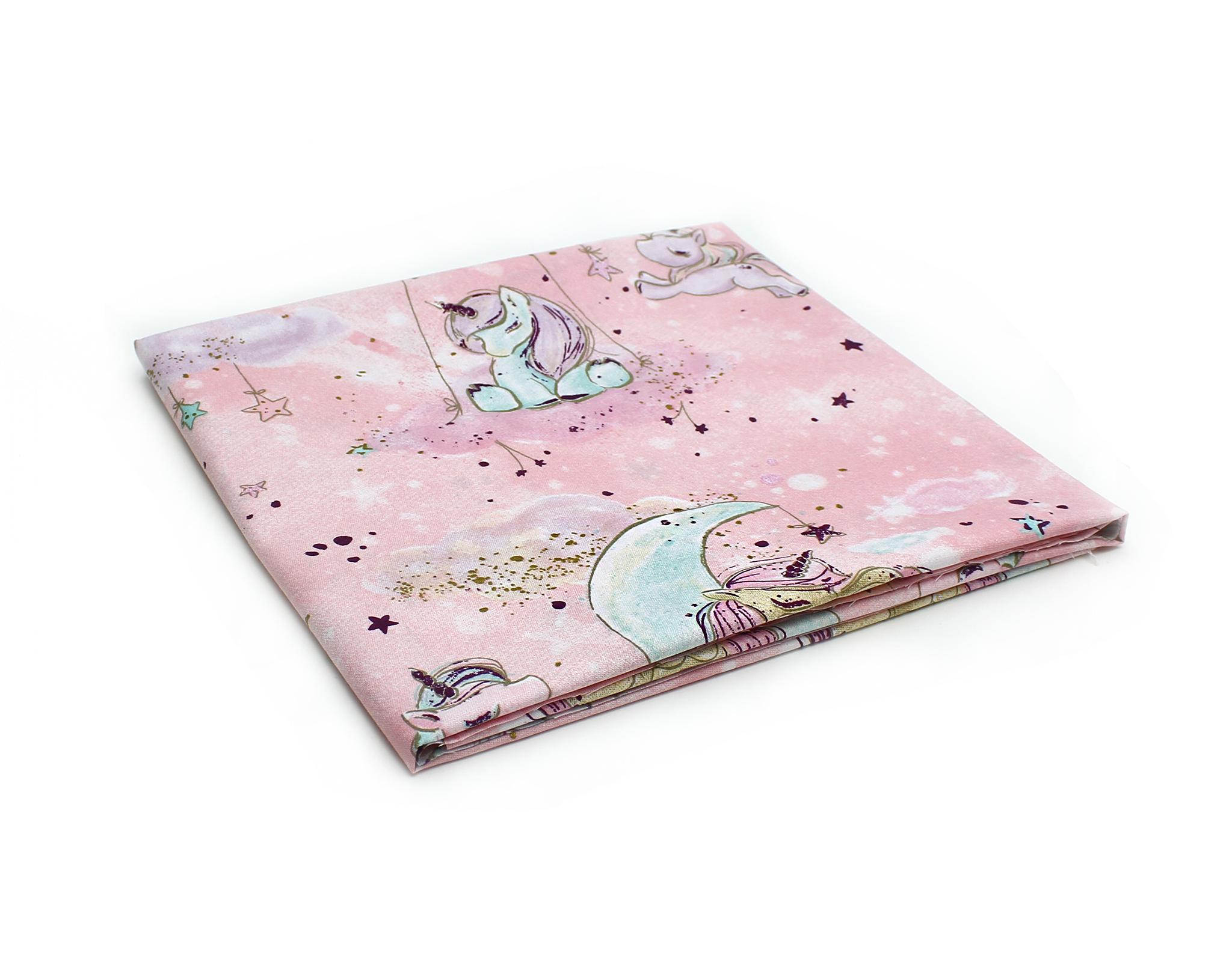 Единороги с луной на розовом