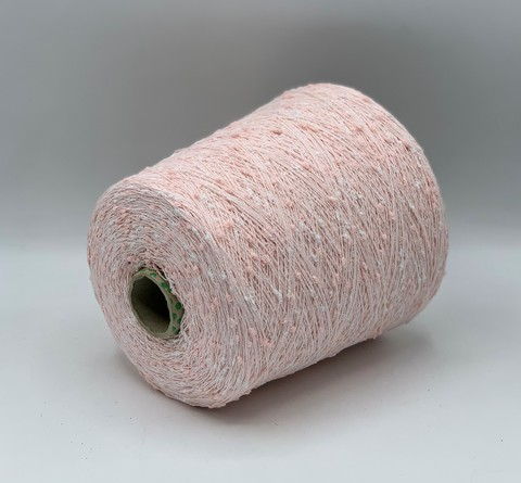 Бобинная пряжа  (пр.Италия),1300 м / 100 гр. Хлопок/ПА , цвет-розовый , арт.9701