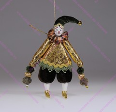 Ёлочная игрушка Клоун в бархатном колпачке
