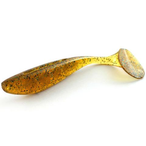 Силиконовая приманка FishUp Wizzle Shad цвет № 036 - Caramel/Green & Black