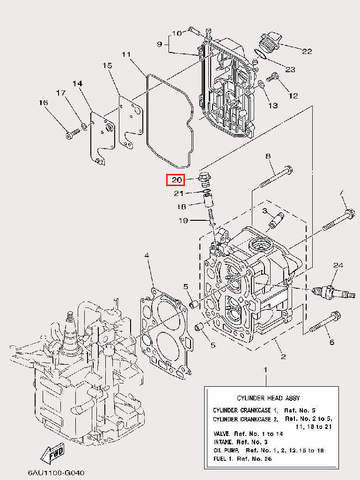 Заглушка анода для лодочного мотора F9,9 Sea-PRO (4-20)