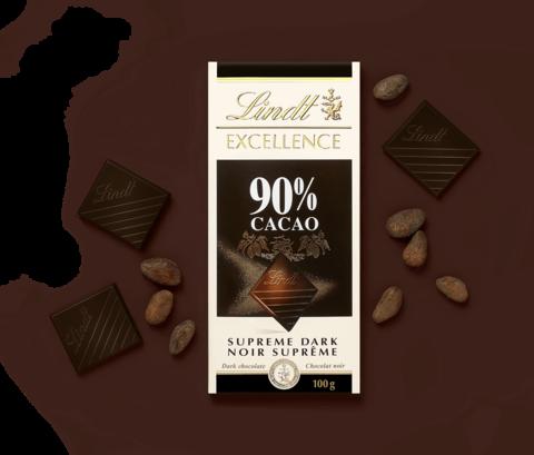Şokolad \ Шоколад \ Chocolate Lindt Excellence Dark Supreme Noir 90% Cocoa, 100g