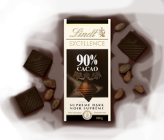 Şokolad \ Шоколад \ Chocolate Lindt Excellence Dark Supreme Noir 90% Cocoa, 100g