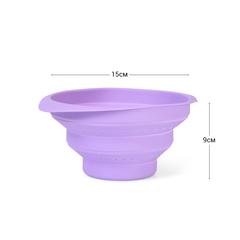 Дуршлаг 15x9см складной, цвет Лиловый (силикон)