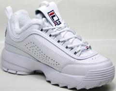 Кроссовки фила женские белые Fila Disruptor II