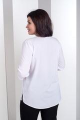 Ліза. Стильна блуза великих розмірів. Білий