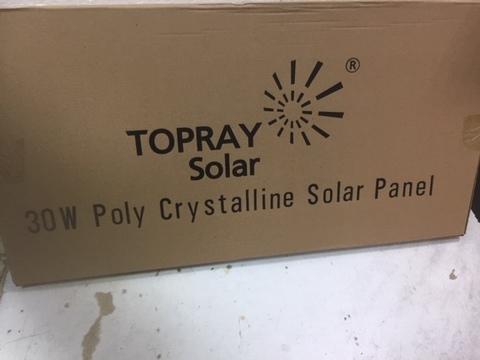 Солнечная батарея 30П TPS-107S-30W  30Вт 12B