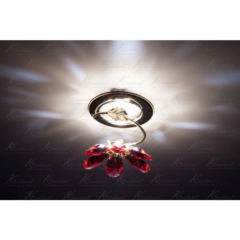 Встраиваемый светильник Kantarel BLOSSOM CD 015.3.2/6 bordeaux