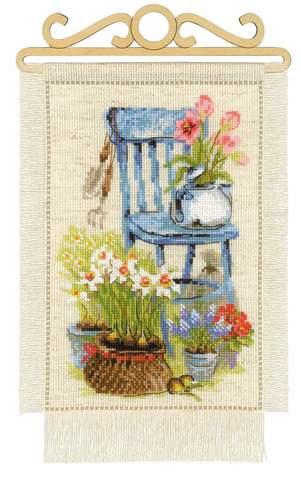Набор для вышивания крестом «Дача. Весна» (1656)
