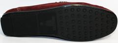 Стильные мокасины мужские IKOC 1555-3 Red.