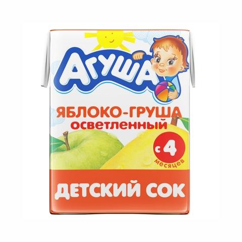 Сок АГУША Яблоко Груша с мякотью 200 мл РОССИЯ