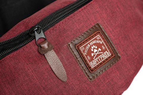 Сумка поясная Варгградъ красный джинс