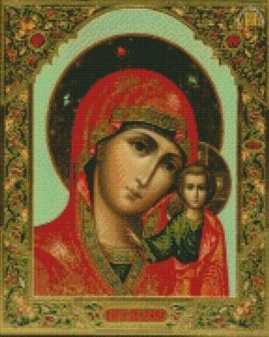 Алмазная Мозаика 28x22 Казанская икона Божией Матери (арт. MN20275)