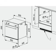 Встраиваемый духовой шкаф Korting OKB 482 CRSI - схема