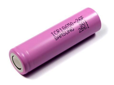Аккумуляторы 18650 Samsung 2600mAh ICR18650-26F