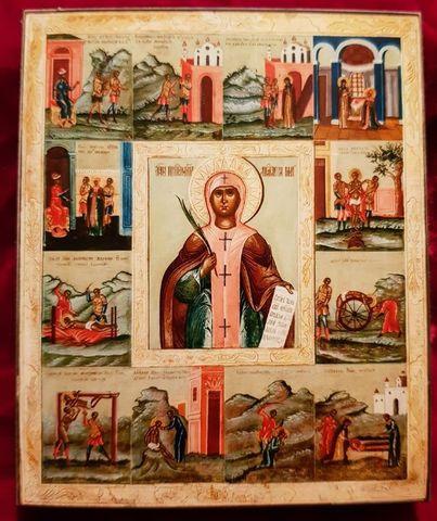 Икона святая Анастасия Римляныня на дереве на левкасе мастерская Иконный Дом