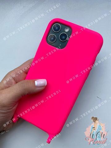 Чехол iPhone 7/8 Silicone Case crossbody bag /electric pink/