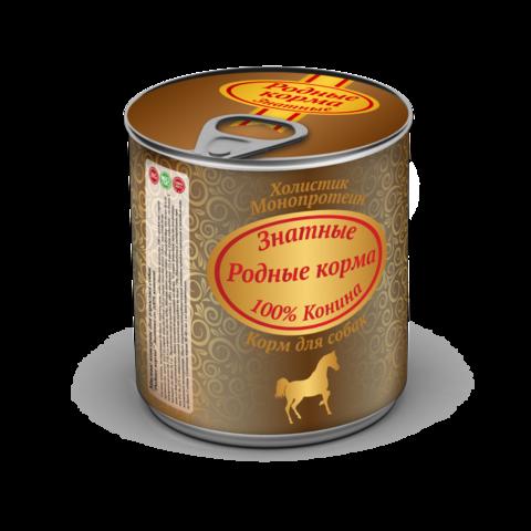 Родные корма Знатные Консервы для собак с кониной