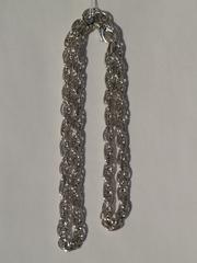Кордовая пустотелая 1,0   (серебряная цепочка)