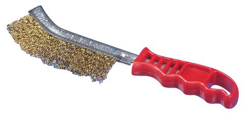 Ручная щетка латунированная с пластиковой ручкой (0,30)