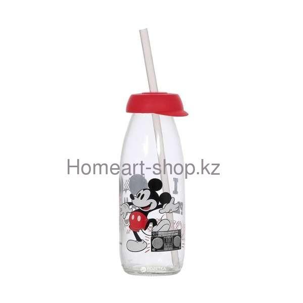 Бутылка детская с трубочкой mickey mouse 250 мл