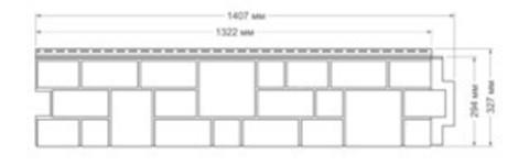 Фасадная панель Гранд Лайн Я-ФАСАД Камень Янтарь 1407х327 мм