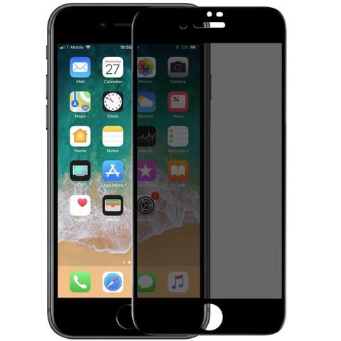 Стекло защитное iPhone 8/7 Plus 2.5D Black Privacy Антишпион
