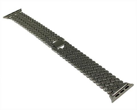 Ремешок для Apple Watch 38mm/40mm чешуя сталь | серебро